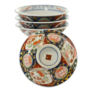 Mid 19th Century Japanese Imari Bowls - Set of 4 For Sale