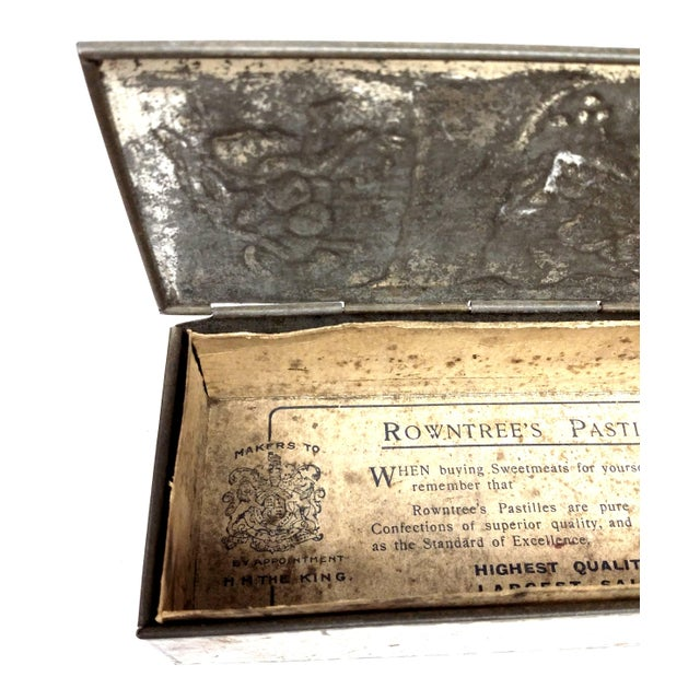 Antique English Rowntree & Co Ltd Candy Tin For Sale - Image 4 of 10