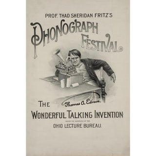 Early 1900s Phonograph Festival, Print of Advertisement For Sale