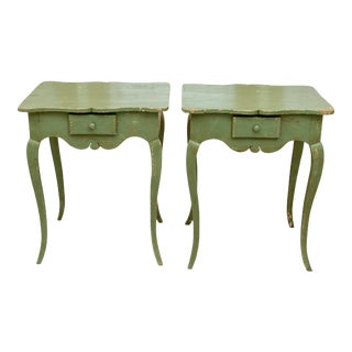 French Louis XV Style Side Tables - a Pair For Sale