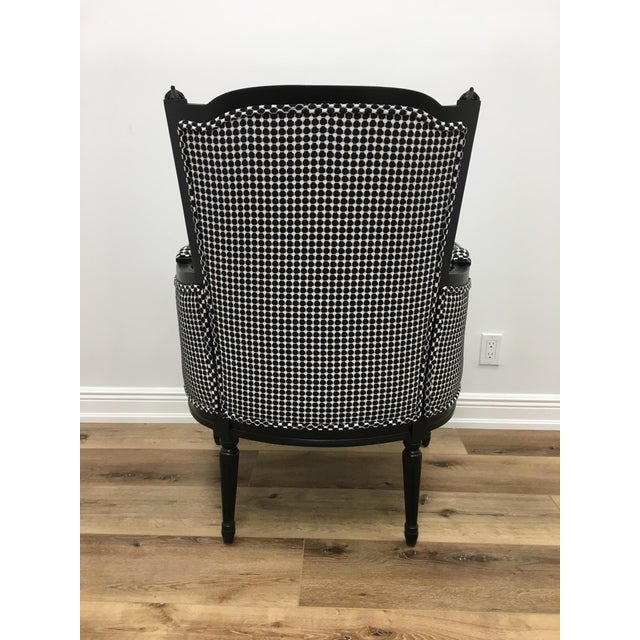 Highland House Mid-Century Modern Highland House Black and White LIV Armchair For Sale - Image 4 of 5