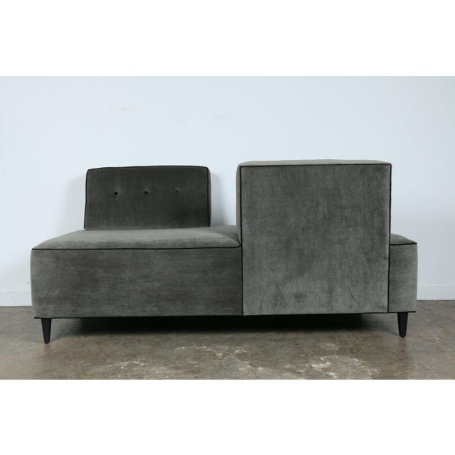 Modern Modern Mohair Double Sided Sofa For Sale - Image 3 of 11