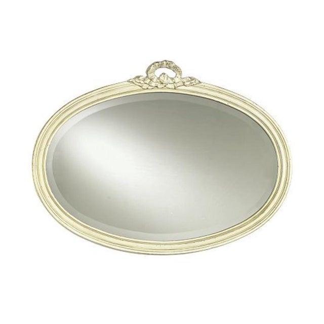 Swedish Design Ethan Allen Beveled Oval Mirror For Sale
