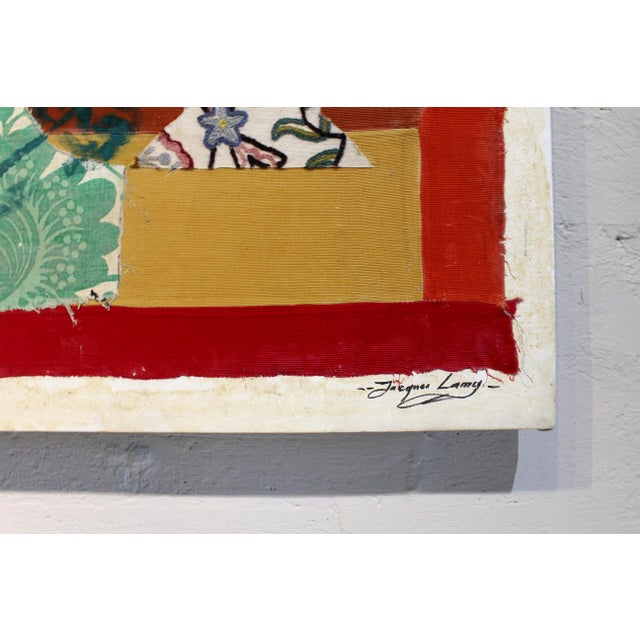 Jacques Lamy Jacques Lamy Multi-Media Abstract Painting For Sale - Image 4 of 7