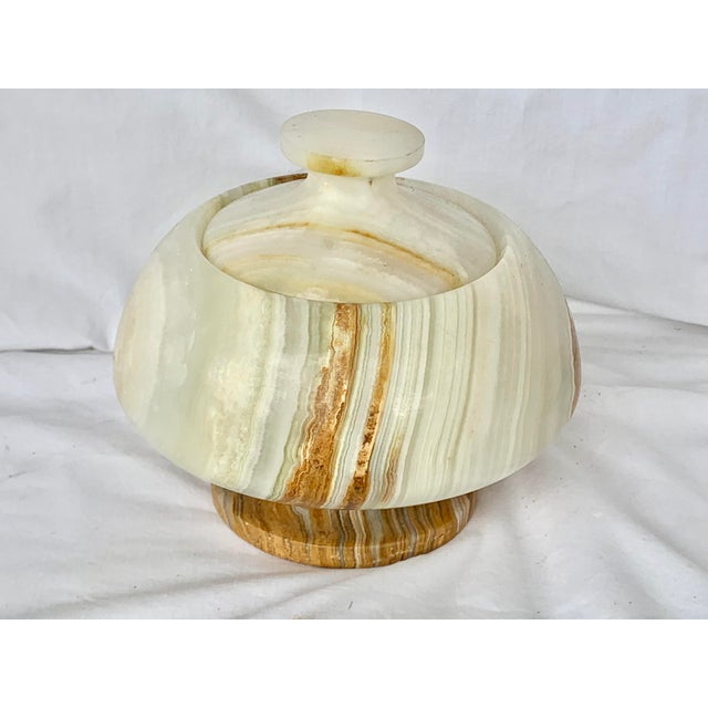 Vintage Onyx Lidded Box For Sale - Image 13 of 13