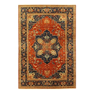 Pasargad Rust Fine Hand Knotted Serapi Design Rug- 12′2″ × 17′8″ For Sale