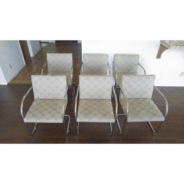 Tubular Knoll Brno Chairs- Set of 6 - Image 2 of 7