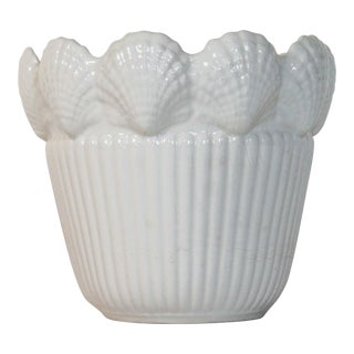 Nautical Italian Shell Motif Planter For Sale