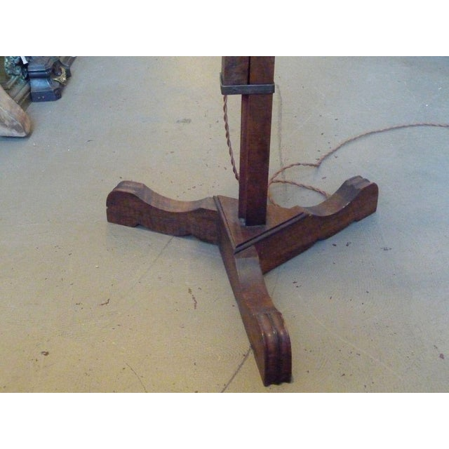 19th Century Adjustable Wooden Floor Lamp For Sale In Boston - Image 6 of 7