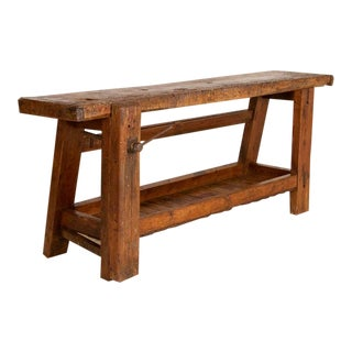 Antique French Carpenter's Work Table For Sale