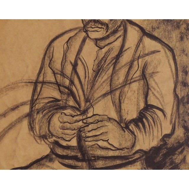 Charcoal on Paper by American Artist Marion Greenwood, Signed ,1933, Mexico For Sale - Image 4 of 8
