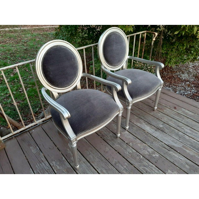 Bernhardt Louis Arm Chairs - a Pair For Sale - Image 12 of 13