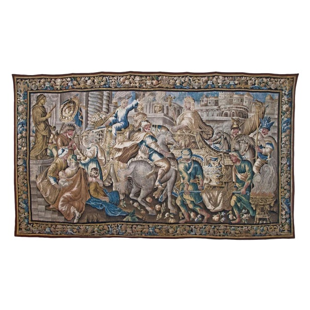 Flemish Tapestry of Caesar returning to Rome For Sale