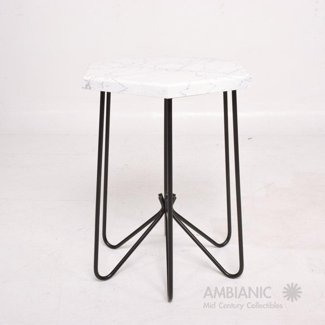 Metal Mid-Century Modern Style Side Table For Sale - Image 7 of 10