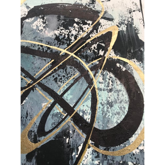 """Modern Original """"Orbits and Comets"""" Mixed Media by Christy Almond For Sale - Image 9 of 12"""