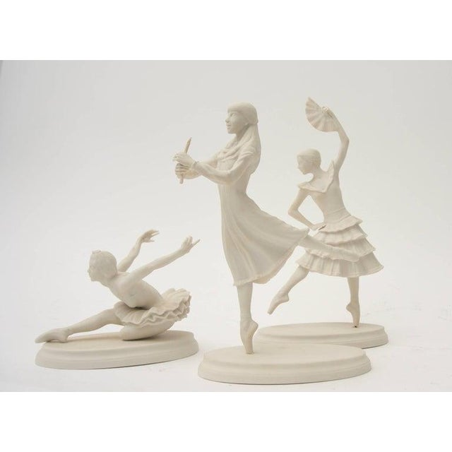 Set of 3 Boehm Ballerinas sponsored by American Ballet Theatre as tribute to the Nutcracker, Swan Lake and Don Quixote...