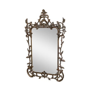 Rococo Style Large Ornate Carved Wall Mirror For Sale