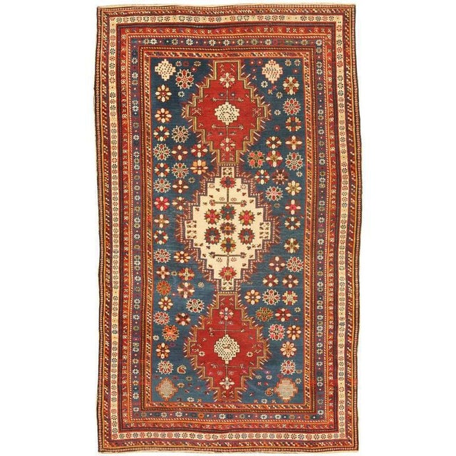 Extremely fine antique Caucasian Shirvan rug. Contact dealer Excellent condition.