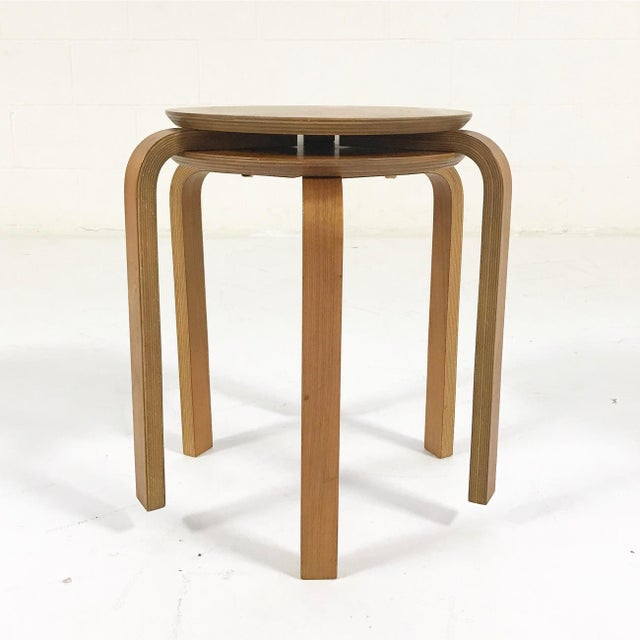 Danish Modern Danish Stacking Side Tables - A Pair For Sale - Image 3 of 4