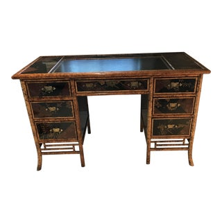 Circa 1860 Bamboo Desk For Sale