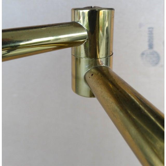 Koch & Lowy Brass Swing Arm Floor Lamp - Image 7 of 11