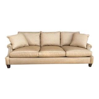 Bernhardt Soft Golden Brown Sofa For Sale