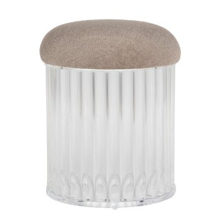 Heavy Acrylic Rod Stool, Circa 1970s