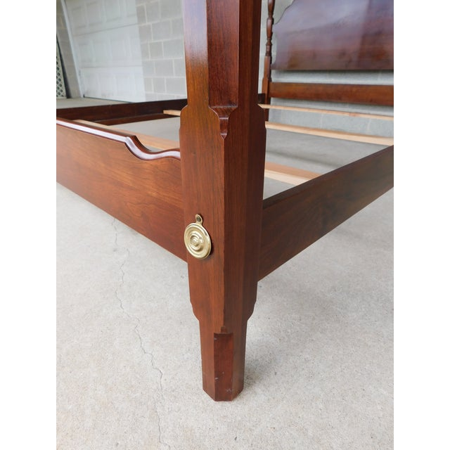 Late 20th Century L Hitchcock Cherry Queen Size Poster Bed For Sale - Image 5 of 11