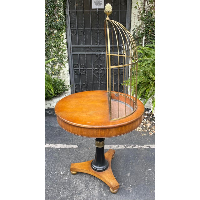 Mid-Century Modern Rare Grosfeld House Hollywood Regency Mid Century Modern Empire Birdcage Jardenier Table For Sale - Image 3 of 5