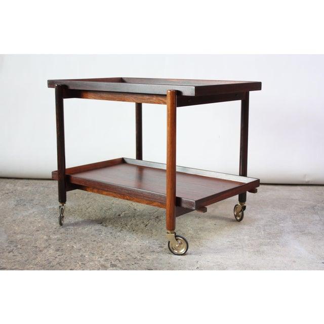 Brown Poul Hundevad Rosewood Modular Bar Cart For Sale - Image 8 of 13