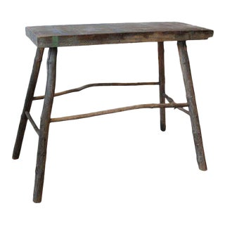 Adirondack Wooden Console Table For Sale