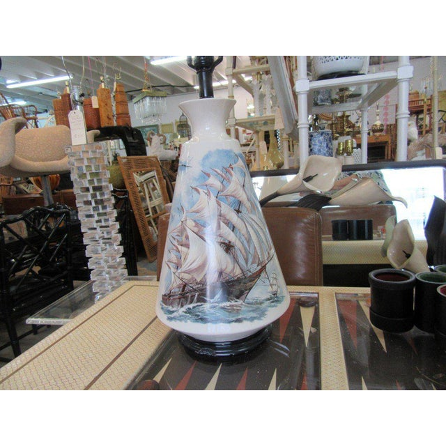 Hand Painted Ship Lamp - Image 8 of 9