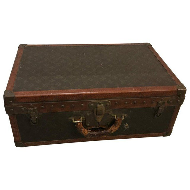Louis Vuitton Suitcase Trunk With Key For Sale - Image 13 of 13