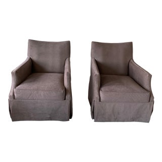 Fairfield Swivel Chairs - a Pair For Sale