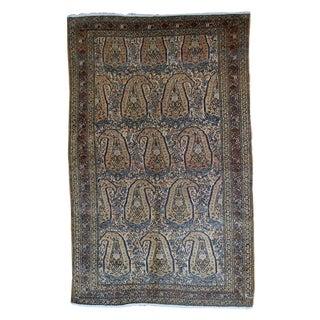 1900s handmade antique Persian Bibikabad rug 4.2' X 6.7' For Sale