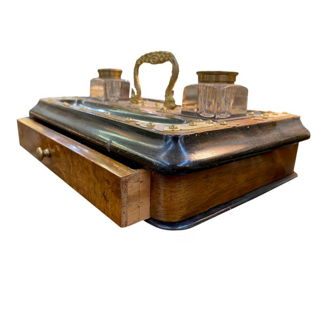 19th Century Antique English Desk Set For Sale - Image 5 of 6