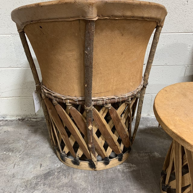 1960s 1960s Equipale Chairs and Tabl Set - Set of 3 For Sale - Image 5 of 12