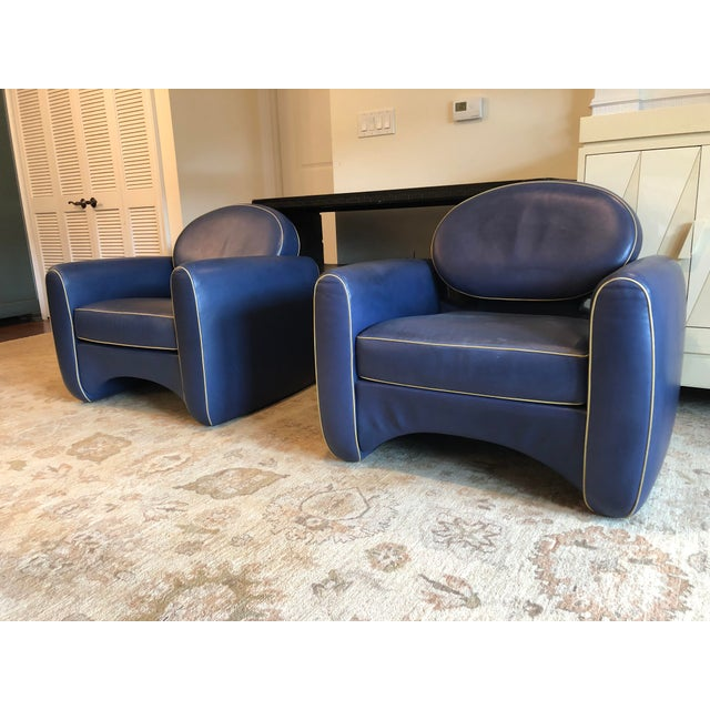 De Sede Emiel Veranneman Mid-Century Modern Osaka Leather Club Chairs - a Pair For Sale - Image 4 of 13