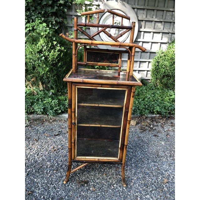 19th Century English Bamboo Cabinet For Sale - Image 10 of 11