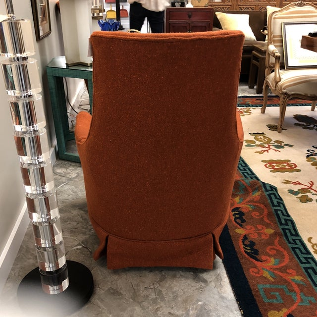 Pair Midcentury Modern Tufted Chairs For Sale - Image 4 of 7