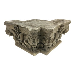 French Carved Stone Capital