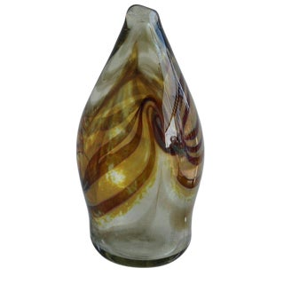 One of a Kind Handblown Glass Sculpture For Sale