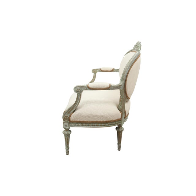 Antique Louis XVI Style Parlor Settee - Image 5 of 10