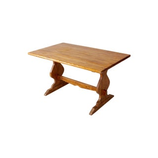 Vintage Monterey Style Trestle Dining Table