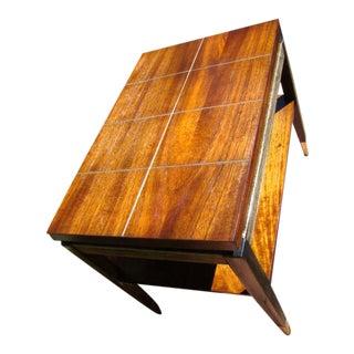 Lane Mid-Century Modern Teak Koa Table For Sale