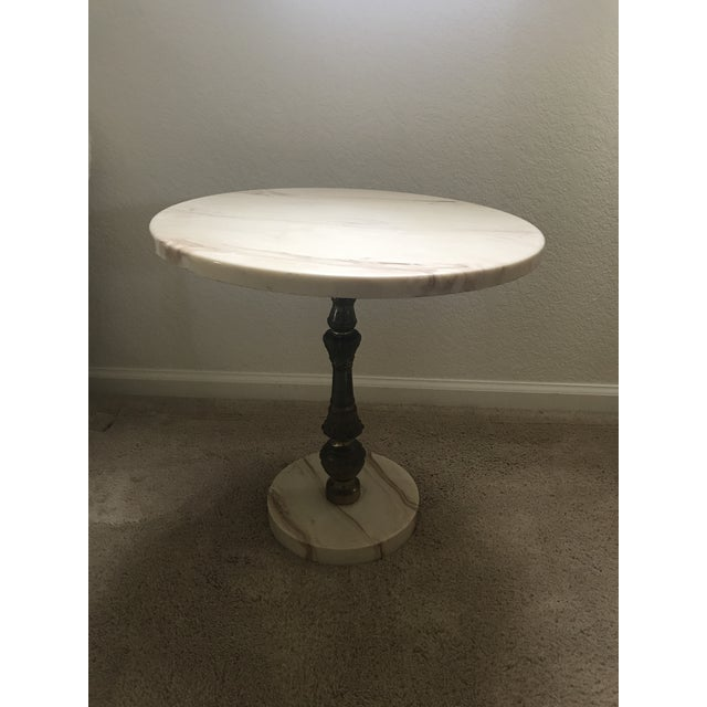 Hollywood Regency Hollywood Regency Marble Accent Table For Sale - Image 3 of 6