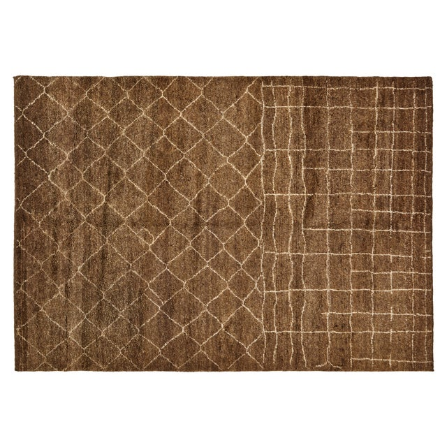 Stark Studio Rugs Contemporary Moroccan Wool Rug - 6′3″ × 9′ For Sale