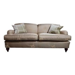 Baker Furniture Tight Back English Sofa For Sale