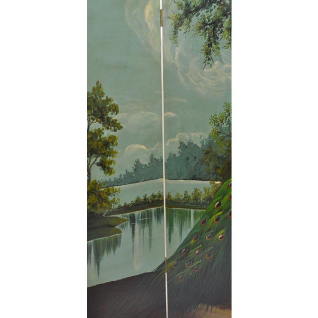 Ornate Landscape Four Panel Screen - Image 4 of 4