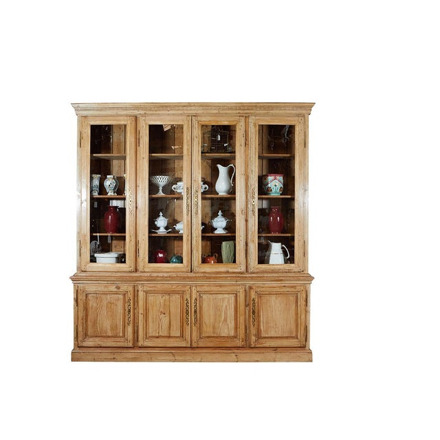 Gold Large French Pine Cabinet/Bookcase For Sale - Image 8 of 8